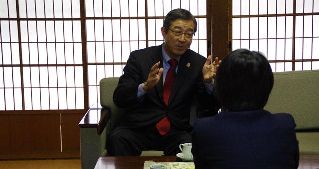 生協とのつながりをお話ししてくれた社長の小手川強二さん