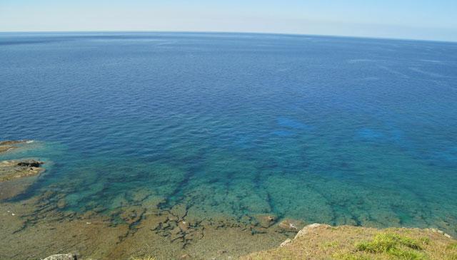 与那国の海の青。我々の観光は「港」と「海」のみ。真面目に過ごしております。