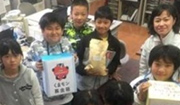 福島と大分の絆 小中学生による募金活動