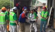 東峰村に108本のスコップを届けました