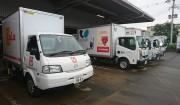 九州各地より佐賀県へ 支援のトラックが届きました。